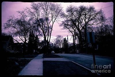 Photograph - Winter Sky On Gottschalk Avenue by Frank J Casella