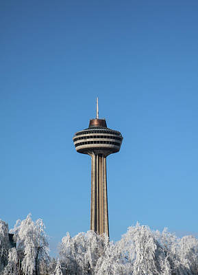 Photograph - Winter Skylon Tower by Perggals - Stacey Turner
