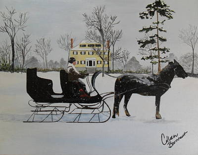 Horse And Sleigh Painting - Winter Sleigh by Colleen Barnhart