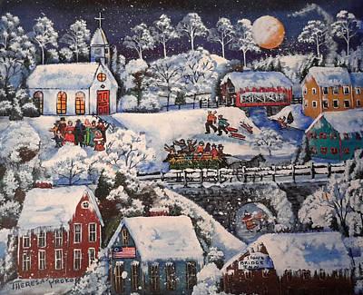 Winter Sleigh Ride Original by Theresa Prokop
