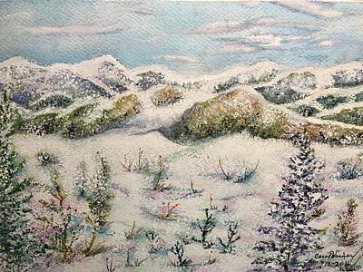 Painting - Winter Slopes by Carol Warner