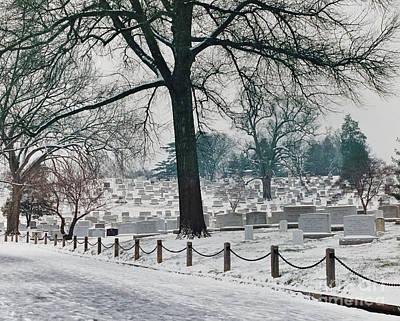 Photograph - Winter Snow At Arlington by D Hackett