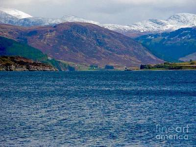 Photograph - Winter Snow Caps At Loch Broom by Joan-Violet Stretch