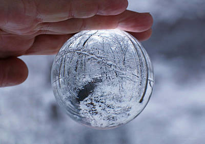 Photograph - Winter Snow Globe by Suzanne Stout