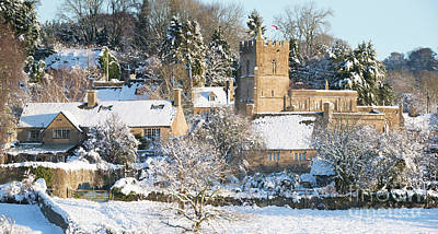 Photograph - Winter Snow In Bourton On The Hill  by Tim Gainey