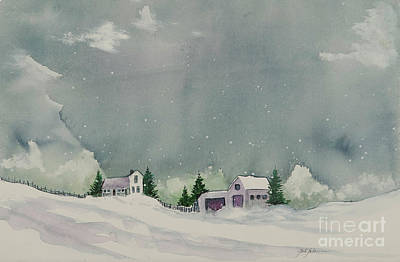 Painting - Winter Snow Storm by Pati Pelz