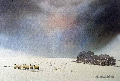 Winter Snow Swaledale Art Print by Paul Dene Marlor