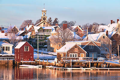 Winter Snowfall In Portsmouth Art Print