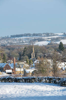 Photograph - Winter Snowfall Lower Slaughter Portrait by Tim Gainey