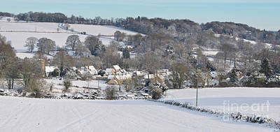 Photograph - Winter Snowfall Upper Slaughter by Tim Gainey