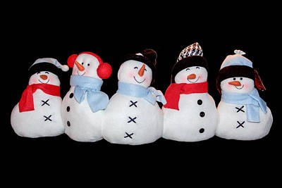 Photograph - Winter Snowmen by Joni Eskridge