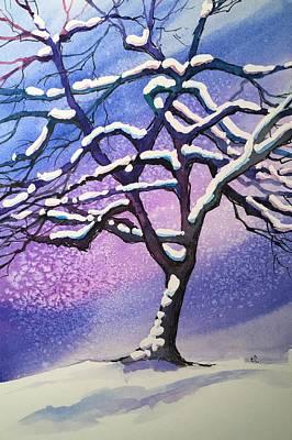 Winter Snowstorm Art Print by Christine Camp
