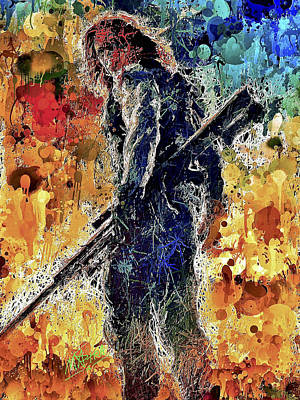 Mixed Media - Winter Soldier by Al Matra
