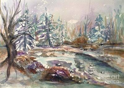 Painting - Winter Woods by Ellen Levinson