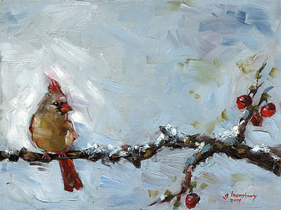 Winter Solitude Original by Grant Lounsbury