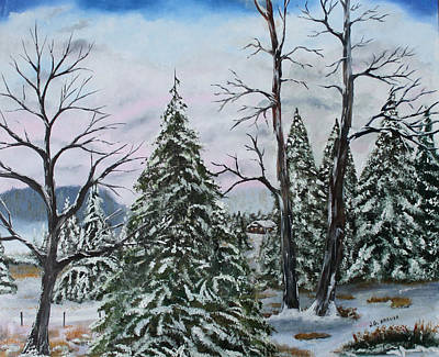 Painting - Winter Solitude by Jack G  Brauer
