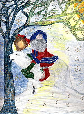 Drawing - Winter Solstice by Barbara Giordano
