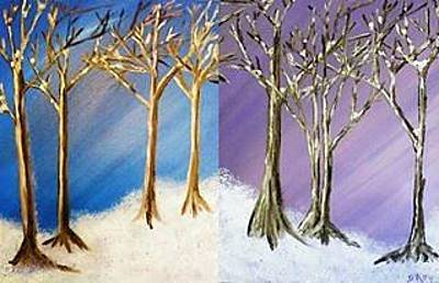 Painting - Winter Solstice Blue And Purple by Debbie