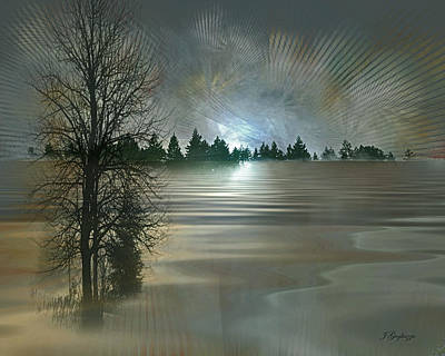 Winter Solstice Art Print by Jean Gugliuzza