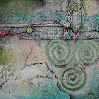 Paper Mixed Media - Winter Solstice by Laura Lein-Svencner