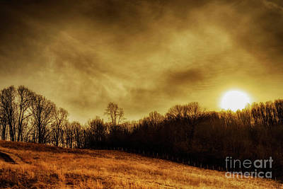 Winter Solstice Photograph - Winter Solstice Sunset by Thomas R Fletcher