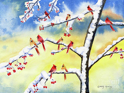 Painting - Winter Song 2 by Melly Terpening