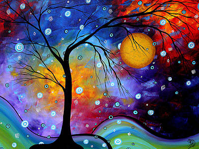 Winter Sparkle By Madart Print by Megan Duncanson