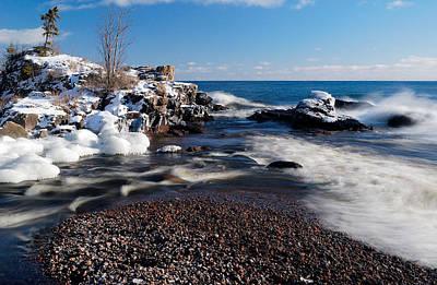Sun Photograph - Winter Splash by Sebastian Musial