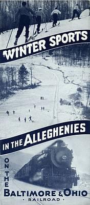 Winter Sports In The Alleghenies Art Print