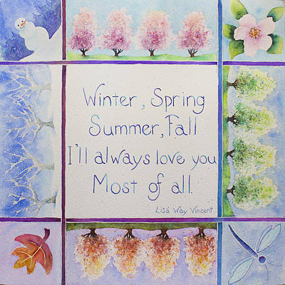 Painting - Winter, Spring, Summer, Fall by Lisa Vincent