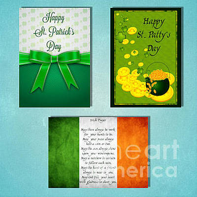 Digital Art - Winter St. Patrick's Day by JH Designs