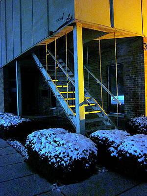Photograph - Winter Stairs by Guy Ricketts