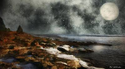 Painting - Winter Stars by RC deWinter