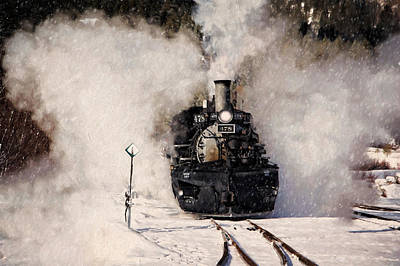 Engine House Photograph - Winter Steam At Rockwood Colorado by Ken Smith