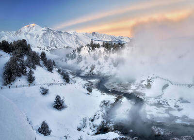 Winter Steam  Art Print