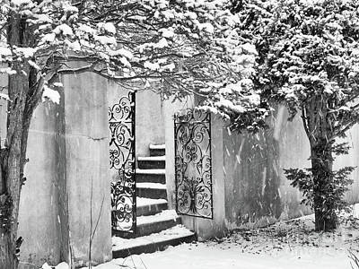 Photograph - Winter Steps At The Vanderbilt In Centerport, Ny by Alissa Beth Photography