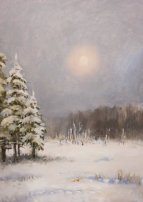 Painting - Winter Stillness by Valentina Kondrashova