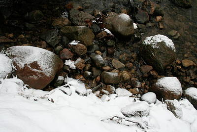 Photograph - Winter Stone Bank by Dylan Punke