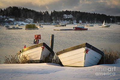 Photograph - Winter Storage On Mackerel Cove by Benjamin Williamson