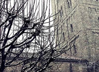 Winter Storm At The Cloisters 2 Art Print