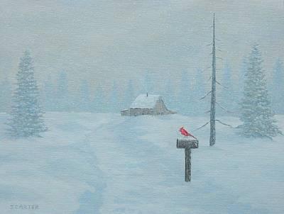 Winter Storm Carter Print by John Carter