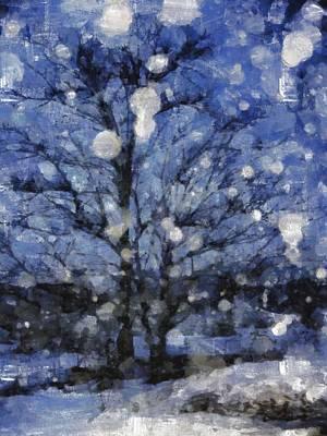 Ice-t Digital Art - Winter Storm by Mario Carini