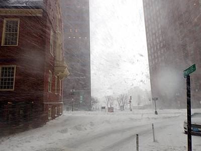 Photograph - Winter Storm Stella Hitting The Boston Snow In Face by Toby McGuire