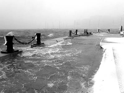 Photograph - Winter Storm Stella Hitting The Boston Waterfront At High Tide by Toby McGuire