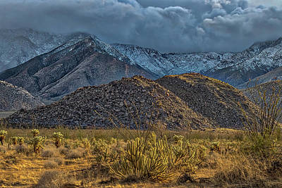 Photograph - Winter Storm To The Desert Floor by Peter Tellone