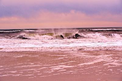 Photograph - Winter Storm Waves by Karen Silvestri