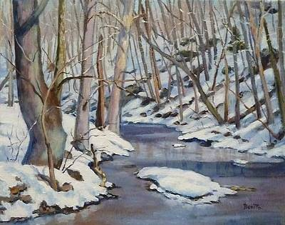 Painting - Winter Stream by Bonita Waitl