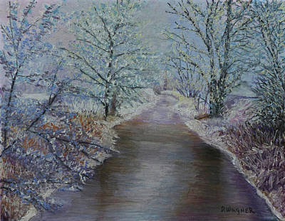 Pastel - Winter Stream by Denise Wagner