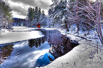 Photograph - Winter Stream In Old Forge by David Patterson