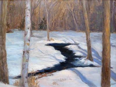 Winter Stream Original by Judith Chapman